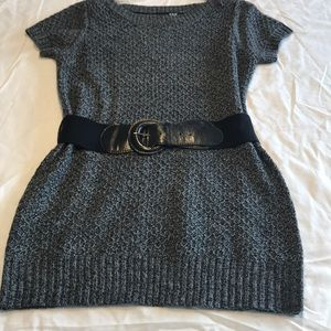 A.N.A Marled Gray Knit Tunic